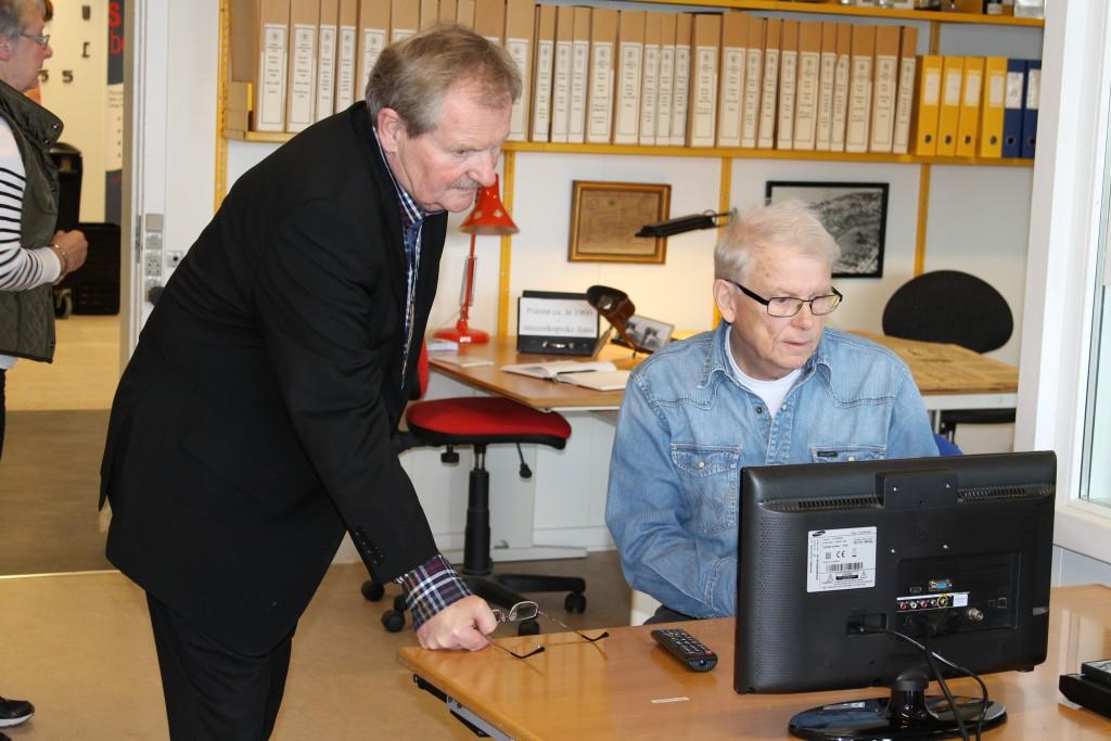 John Holmer (tv) og Ove Rye Jørgensen