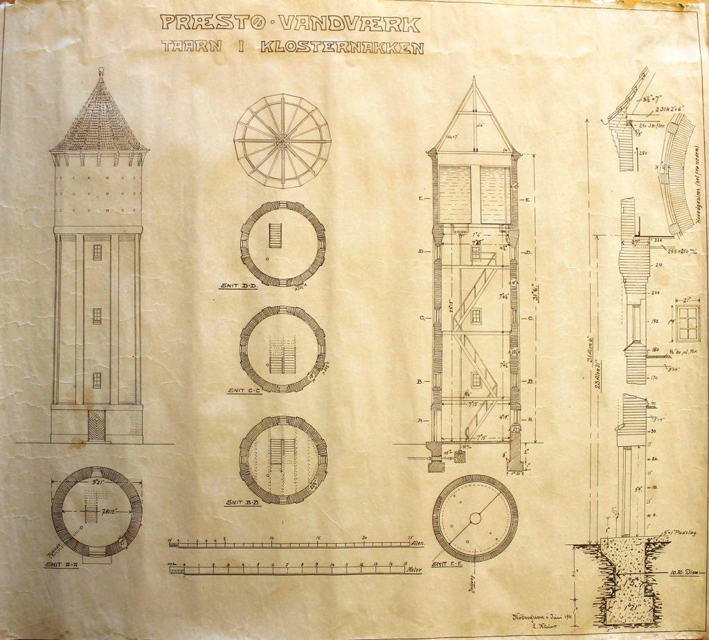 Tegnet af arkitekt Jens Chr. Frederiksen, Præstø DOBB.KLIK på tegningen for zoom