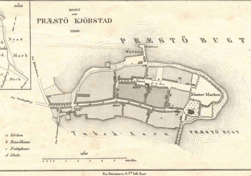 Præstø om. 1860
